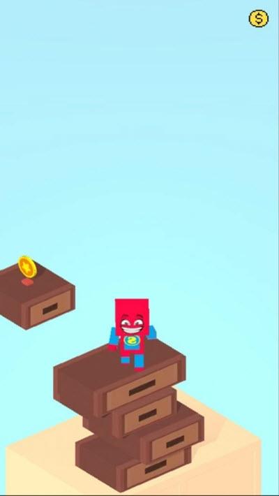 方块蜘蛛侠跳跳乐截图0
